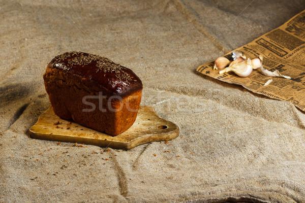Healthy food: sliced brown bread Stock photo © mrakor