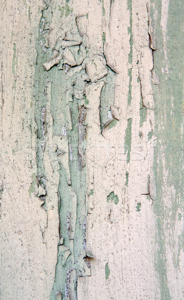 Stock photo: Weathered old painted wood
