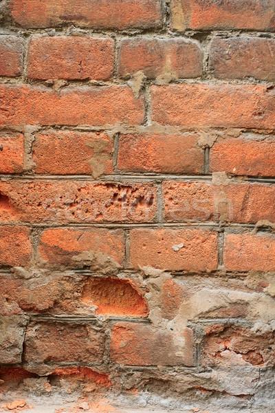 decayed red brick wall Stock photo © mrakor