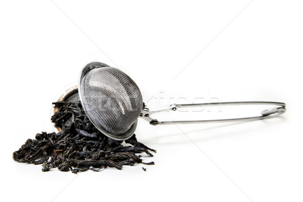 strainer with tea leafs  Stock photo © mrakor
