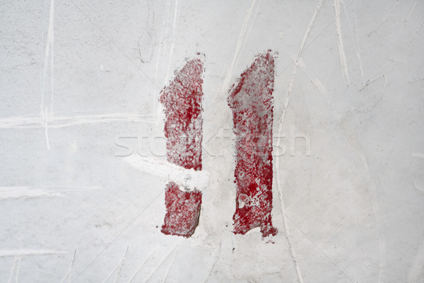 Number on weathered old white wall Stock photo © mrakor