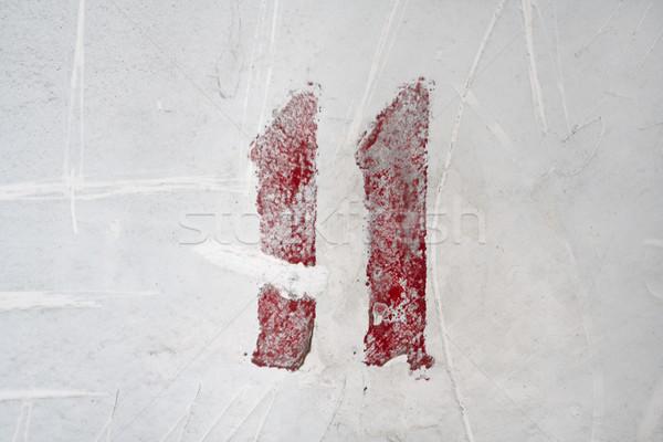 числа выветрившийся старые белый стены аннотация Сток-фото © mrakor