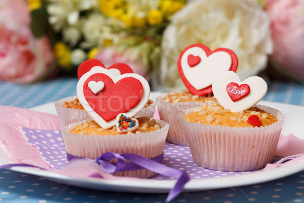 valentine's day muffins Stock photo © mrakor