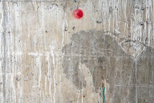 Wyblakły uszkodzony ściany czerwony kropka streszczenie Zdjęcia stock © mrakor