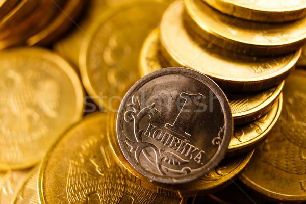 Russo monete oro isolato bianco soldi Foto d'archivio © mrakor