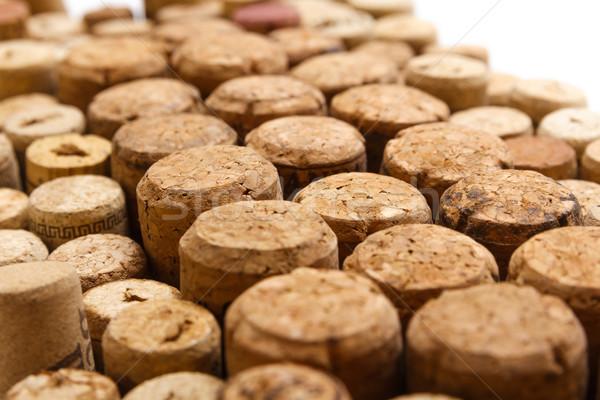 Kullanılmış şarap duvar rasgele bağbozumu Stok fotoğraf © mrakor