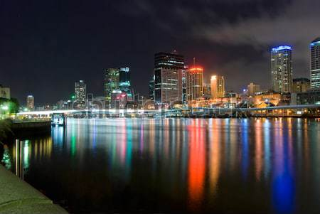 Brisbane Night City queensland Australia noc Zdjęcia stock © mroz