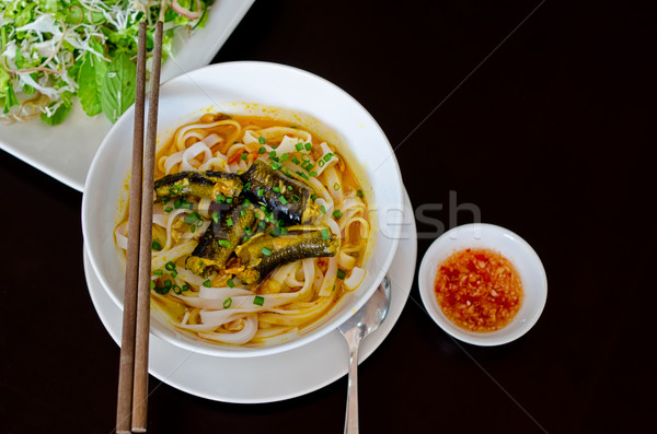 Vietnamese Eel Noodle (Mi Quang) Stock photo © mroz