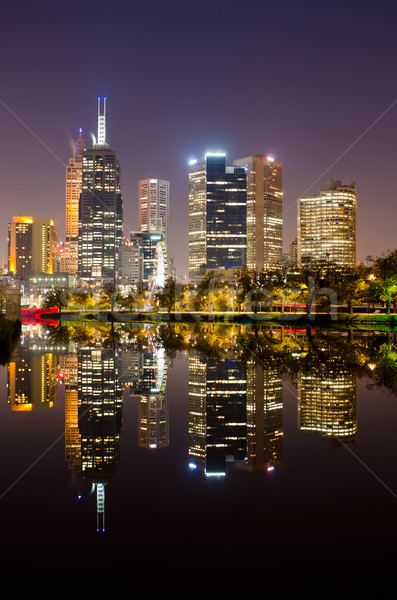 Perfect Reflection - Melbourne City Skyline Stock photo © mroz