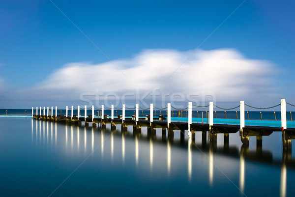 Narrabeen Tidal Pool Pier Reflection Stock photo © mroz