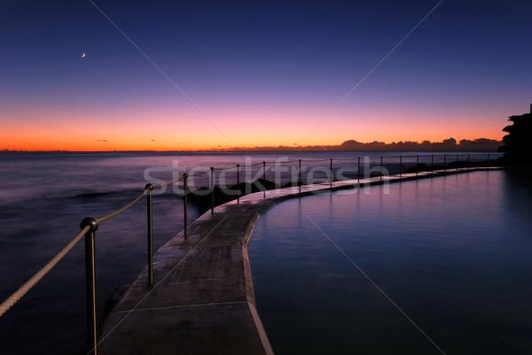 Dawn Sydney strand zwembad Oost Australië Stockfoto © mroz