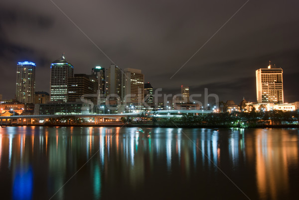 Brisbane City At Night - Queensland - Australia Stock photo © mroz
