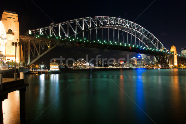 Sydney Harbour Bridge By Night Stock photo © mroz