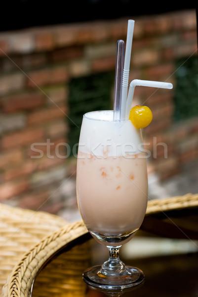 коктейль пить стекла фрукты тропические сока Сток-фото © mroz