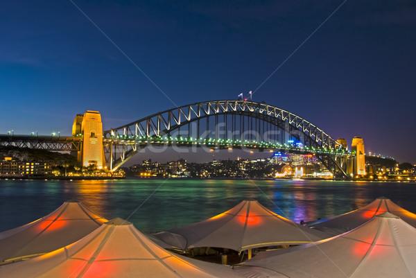 Foto stock: Cais · Sydney · porto · ponte · atrás