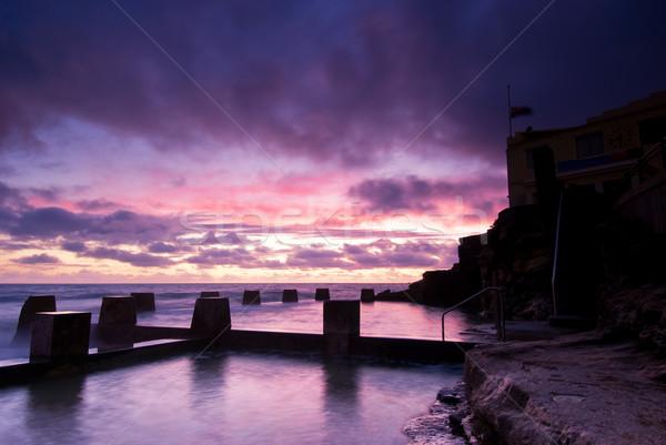 Photo stock: Aube · Sydney · plage · piscine · célèbre · orientale