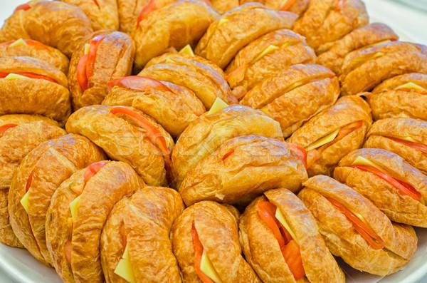 вегетарианский круассаны пластина питание событиях продовольствие Сток-фото © mroz