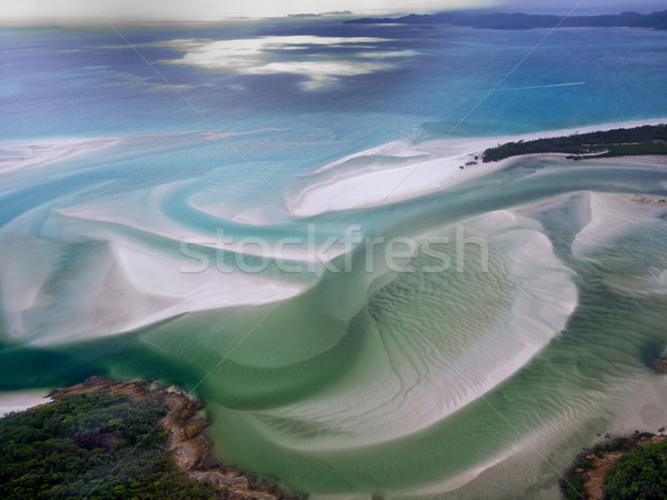 Whitehaven Beach Whitsundays, Queensland - Australia - Aerial Vi Stock photo © mroz