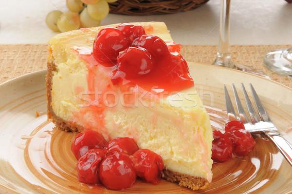 cherry cheesecake Stock photo © MSPhotographic