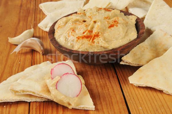 Pide ekmek sarımsak baharat turp Stok fotoğraf © MSPhotographic