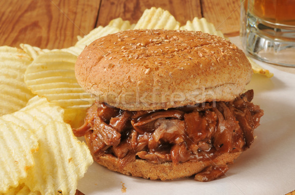 Barbecued beef sandwich Stock photo © MSPhotographic