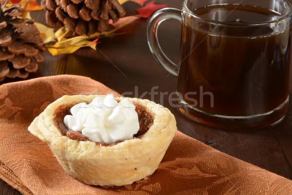 Mini pecan pie and coffee Stock photo © MSPhotographic