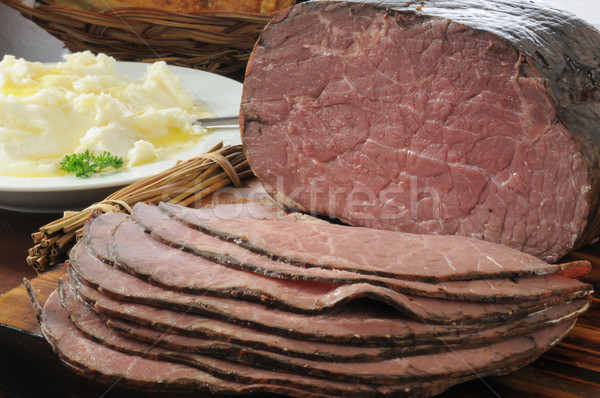 Thin sliced roast beef Stock photo © MSPhotographic