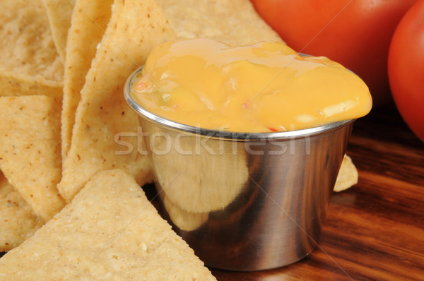 Corn chips and cheese sauce Stock photo © MSPhotographic