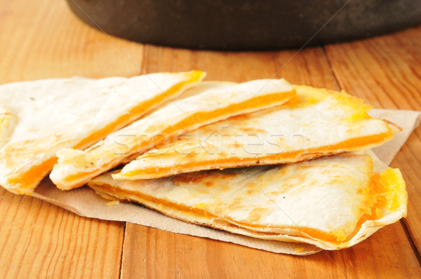 Cheese quesadillas Stock photo © MSPhotographic