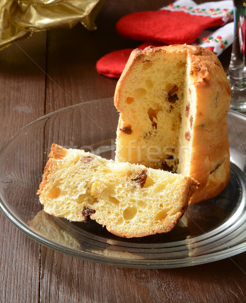 Holiday Panettone Stock photo © MSPhotographic