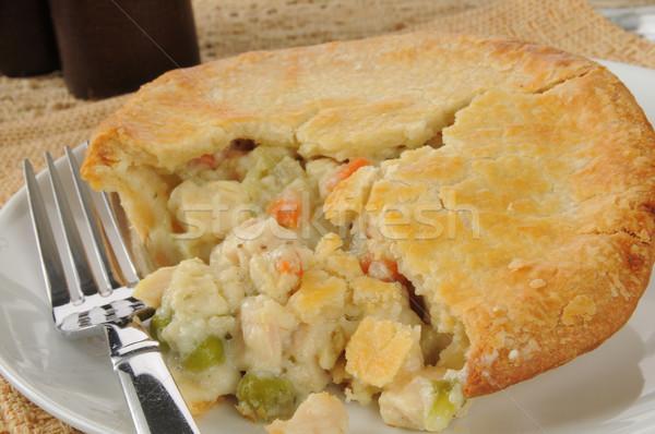 chicken pot pie closeup Stock photo © MSPhotographic