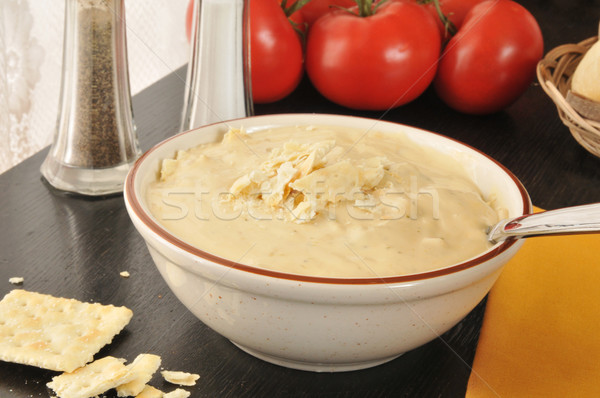 Foto d'archivio: Broccoli · patate · formaggio · ciotola · zuppa