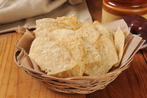 Restaurante estilo tortilla batatas fritas frito pequeno Foto stock © MSPhotographic