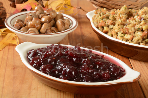 Chunky cranberry sauce Stock photo © MSPhotographic