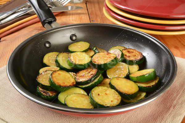 Sauteed zucchini Stock photo © MSPhotographic