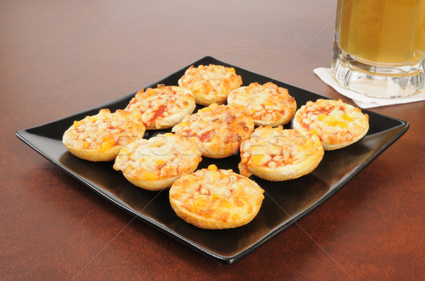 Mini pizza bagels Stock photo © MSPhotographic