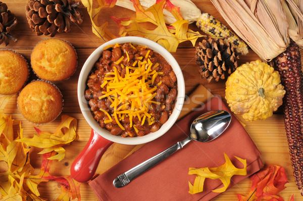 Chili and cornbread muffins Stock photo © MSPhotographic