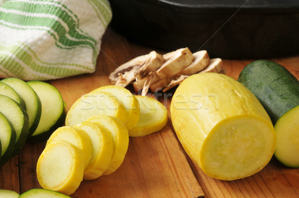 Sliced vegetables Stock photo © MSPhotographic