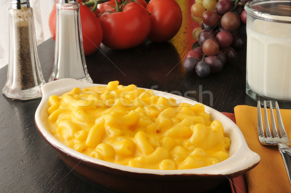 Macaroni and cheese with milk Stock photo © MSPhotographic