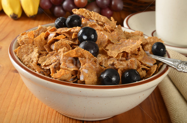 Bran flakes with blueberries Stock photo © MSPhotographic