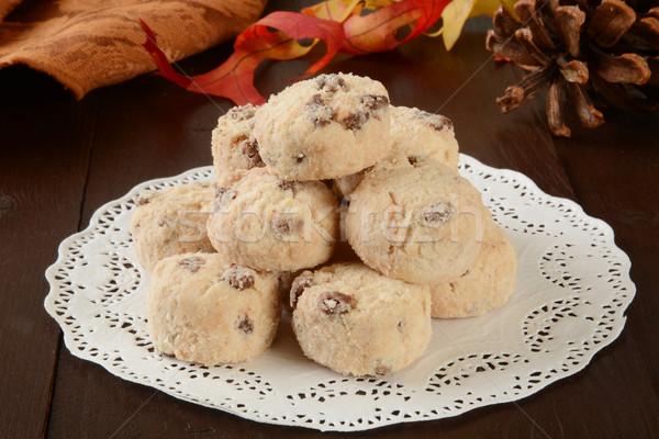 Gurme tatil kurabiye mini çikolata yonga Stok fotoğraf © MSPhotographic