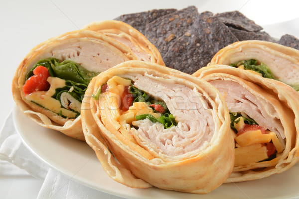 Turkey wrap sandwich Stock photo © MSPhotographic