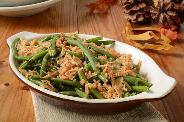 Stock photo: Green bean and onion casserole