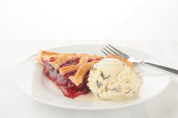 Cherry pie a la mode Stock photo © MSPhotographic