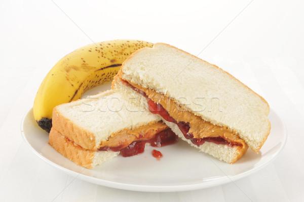 Stock photo: Peanut butter sandwich