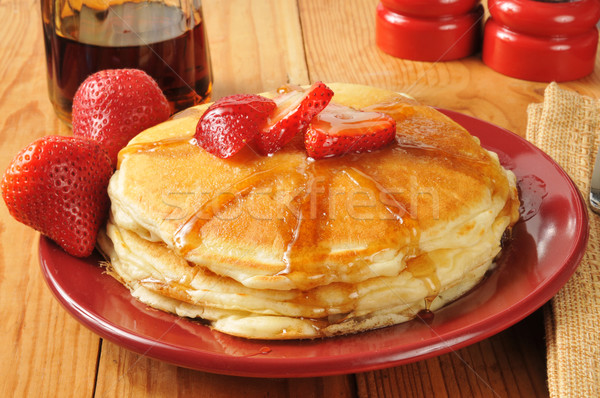 Pancakes with strawberry Stock photo © MSPhotographic