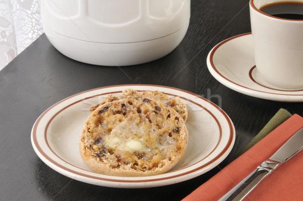 Tarçın kuru üzüm İngilizce çörek tost fincan Stok fotoğraf © MSPhotographic