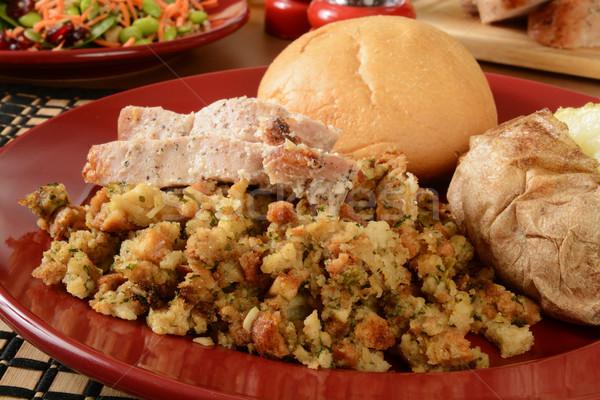 Turquie dîner farce Photo stock © MSPhotographic
