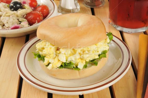 卵 サラダ サンドイッチ ベーグル 新鮮な フルーツ ストックフォト © MSPhotographic