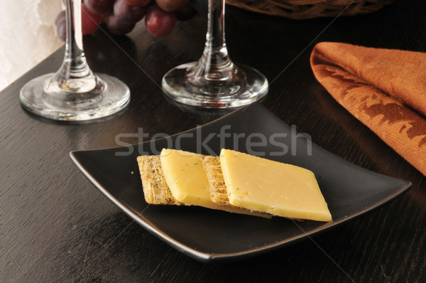 Cheese and crackers Stock photo © MSPhotographic